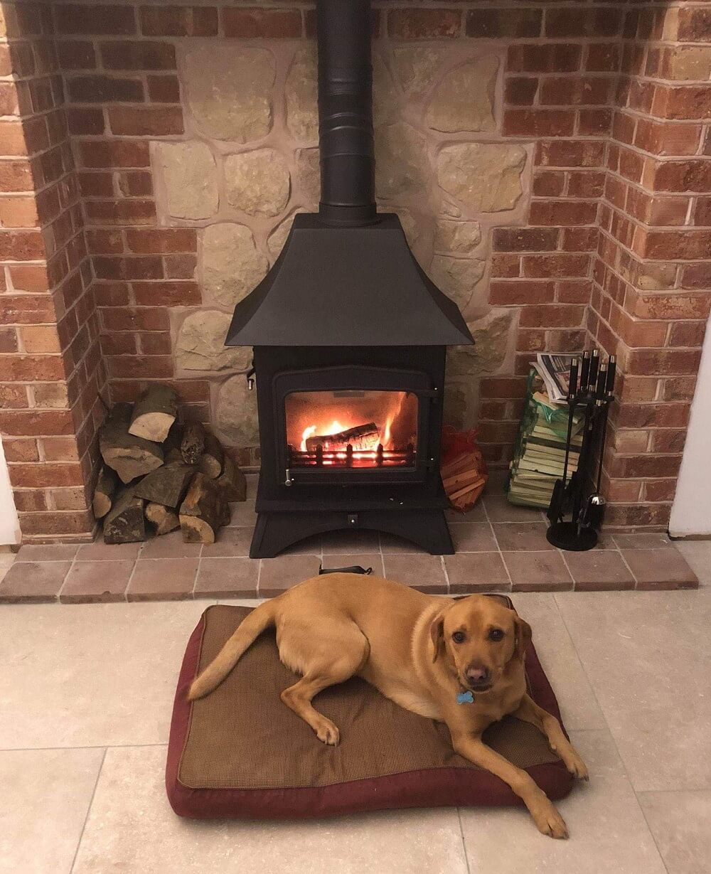 Inglenook stove installation by stove doctor