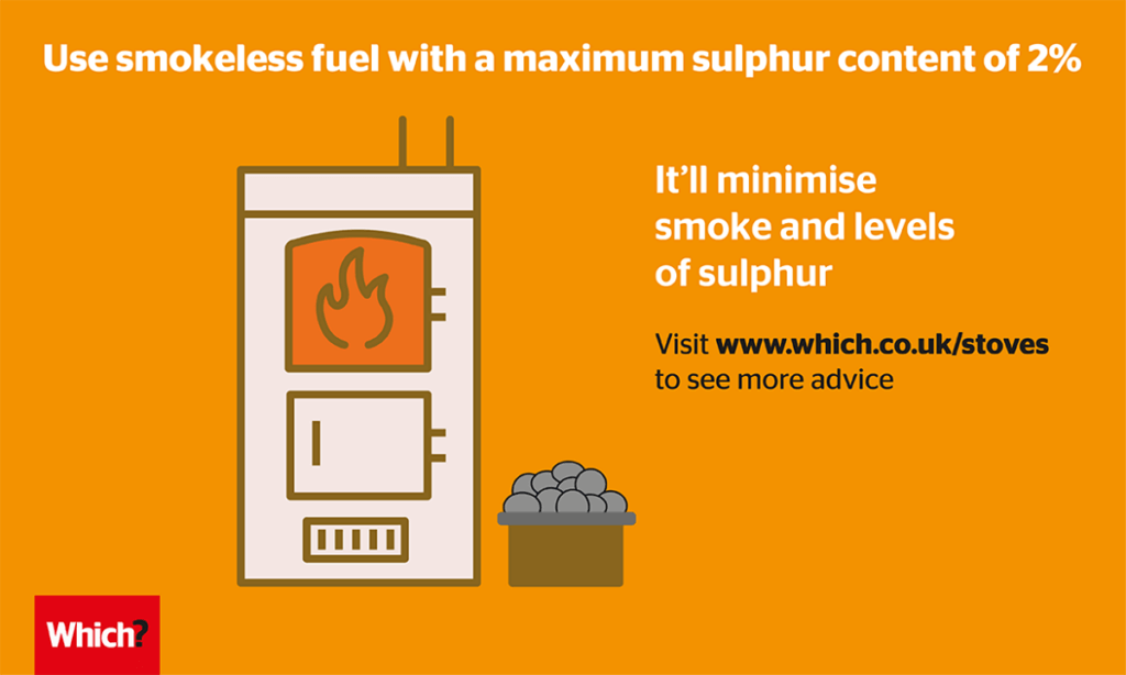 Use smokeless fuel with a maxiumum sulphar content of 2% image